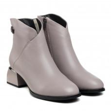 Ботинки женские кожаные демисезонные серые Polann