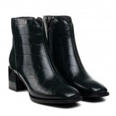 Ботильоны женские кожаные демисезонные зеленые Vidorcci