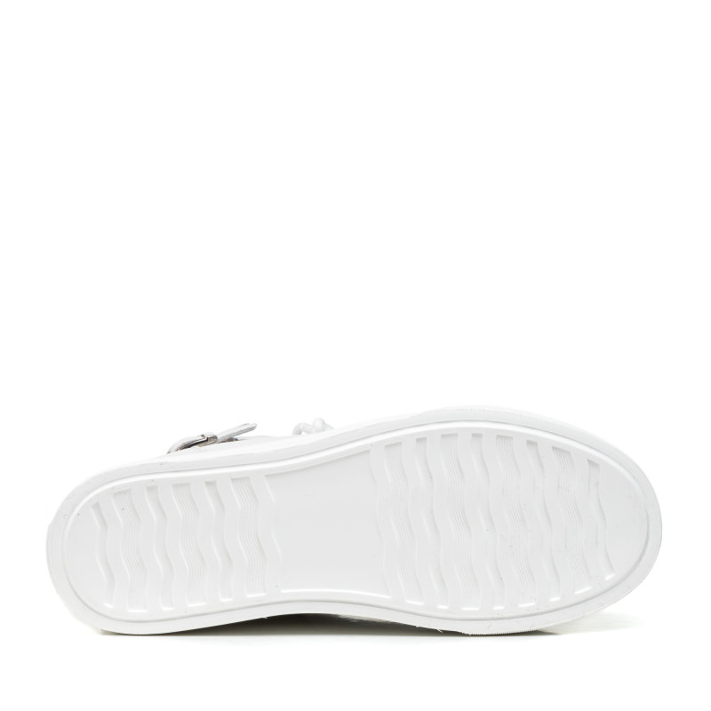 Черевики жіночі шкіряні білі на платформі Berkonty