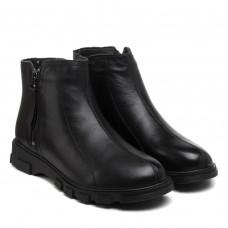 Ботинки женские кожаные черные на платформе Meegocomfort