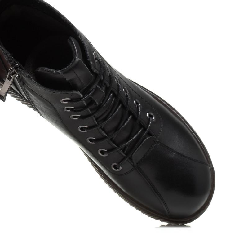 Черевики жіночі чорні на платформі Meegocomfort