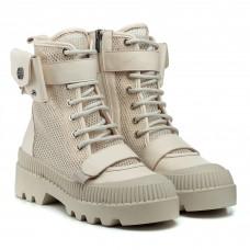 Ботинки женские кожаные бежевые летние Evromoda