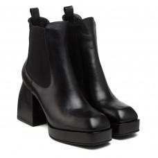 Ботильоны женские кожаные на широком каблуке Lottini