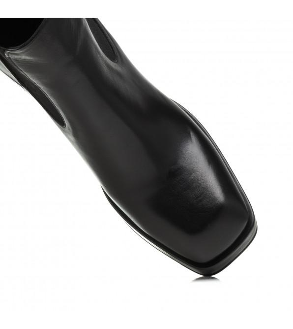 Ботильйони жіночі шкіряні на широкому каблуку Lottini