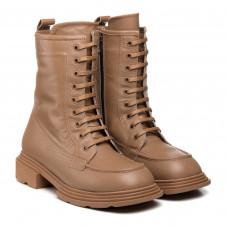 Ботинки женские кожаные на шнуровке коричневые Guero