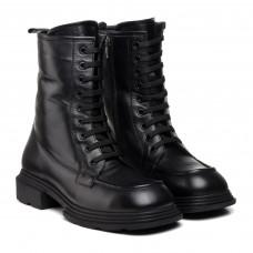 Ботинки женские кожаные черные на шнуровке Guero