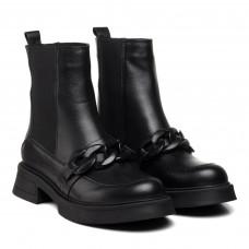 Ботинки женские кожаные черные Guero