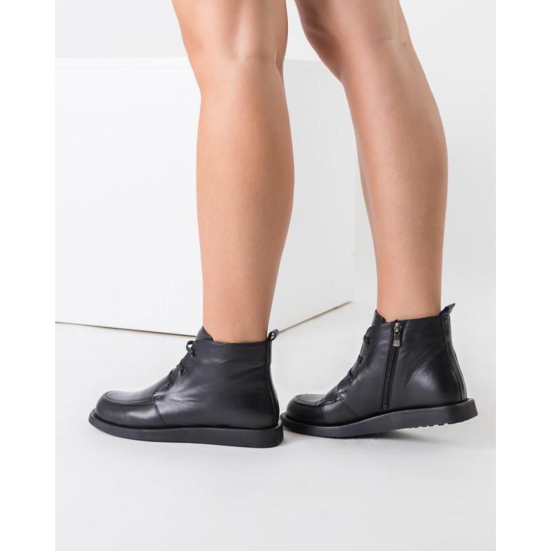 Черевики жіночі шкіряні демісезонні без каблука Phany