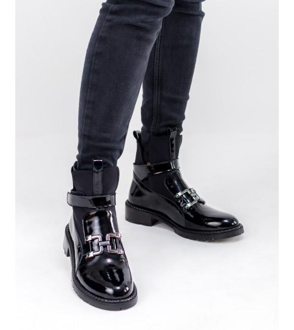 Черевики жіночі чорні з декором Aquamarin