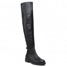 Ботфорты женские осенние Mario muzi кожаные черные на удобном каблуке