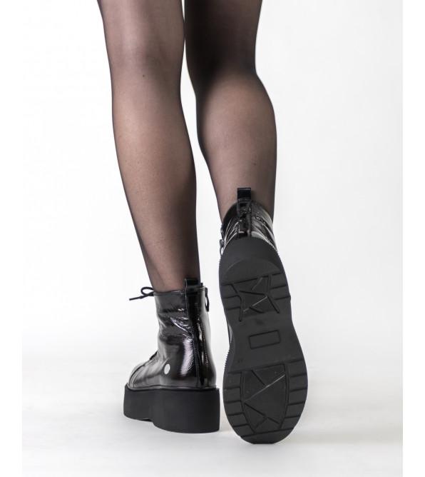 Черевики жіночі шкіряні лаковані на платформі Mamammia