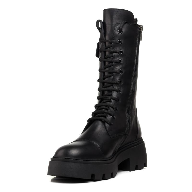Черевики жіночі чорні на шнурках шкіряні MOLLY BESSA