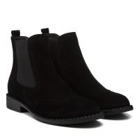 Ботинки  - челси женские замшевые на низком ходу Corsovito