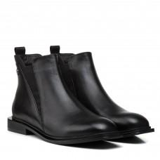 Ботинки женские кожаные черные на низком ходу Kadar