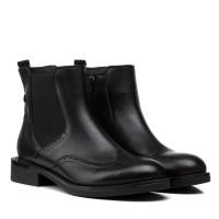Ботинки женские кожаные черные демисезонные Kadar
