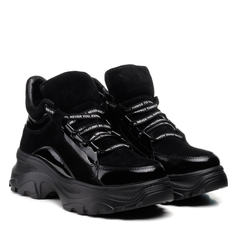 Кросівки жіночі замшеві чорні демісезонні Zlett