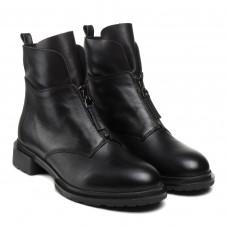 Черевики Corsovito чорні осінні шкіряні на зручному каблуку