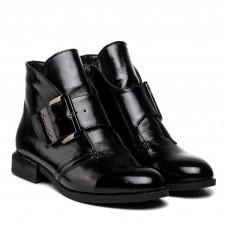 Ботинки женские кожаные демисезонные лакированные Zlett