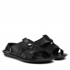 Сандалі чоловічі шкіряні чорні Dan-shoes