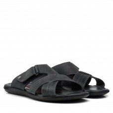Шльопанці  шкіряні сірі Dan-shoes