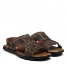 Сандалии мужские кожаные коричневые Maxusshoes