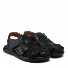 Сандалии мужские кожаные черные Zlett