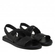 Сандалии мужские кожаные черные Zumer