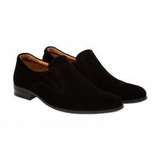 Туфли мужские замшевые черные Zlett