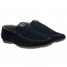 Мокасини замшеві сині стильні Dan Shoes