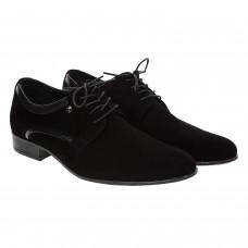 Туфли мужские замшевые с лакированными вставками Tapi