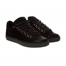 Туфлі нубукові на шнурівках Detta чорні