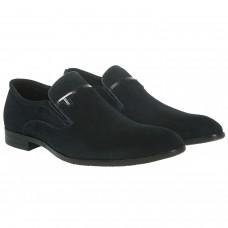 Туфли мужские замшевые синие Evromoda