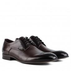 Туфлі чоловічі шкіряні коричневі з перфорацією Cosottinni
