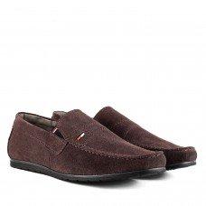 Мокасины мужские замшевые удобные DanShoes коричневые