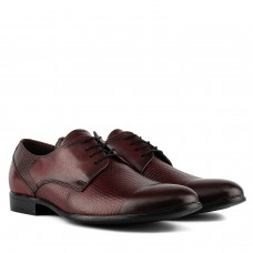 Туфли мужские кожаные бордовые на шнурках TAPI