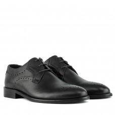 туфлі класичні на шнурівці чорні стильні Badura