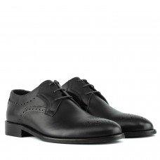 туфли классические на шнуровке черные стильные Badura