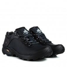 Кросівки Extrem чорні шкіряні на масивній підошві на шнурівках
