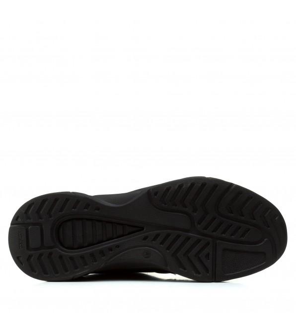 Кросівки чоловічі шкіряні легкі Lions чорні на шнурівках