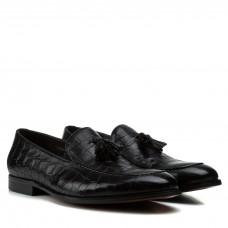 Туфли мужские Cosottinni из натуральной кожи черные кожа змеи