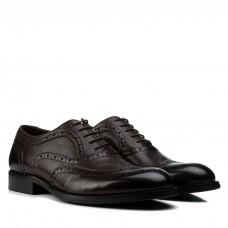 Туфли мужские Cosottinni коричневые на шнуровке классические оксфорды