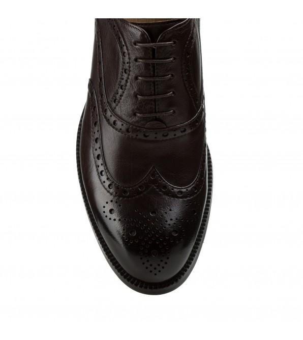 Туфлі чоловічі Cosottinni коричневі на шнурівках класичні оксфорди