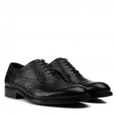 Туфли мужские Cossottini кожаные на шнуровке классические черные