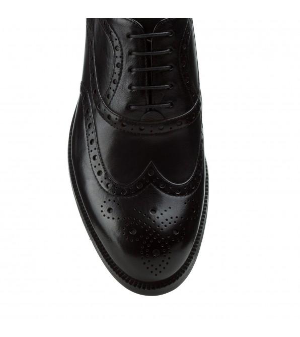 Туфлі чоловічі Cossottini шкіряні на шнурівках класичні чорні