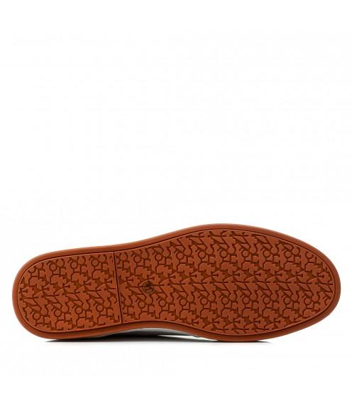 Кеди чоловічі шкіряні білі Cosottinni в дирочки на шнурівках
