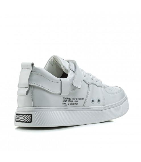 Кеди чоловічі класичні білі Zummer на шнурівках стильні молодіжні
