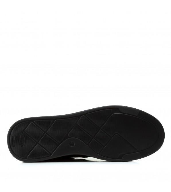 Кеди чоловічі шкіряні повсякденні Zummer стильні чорні на шнурівках