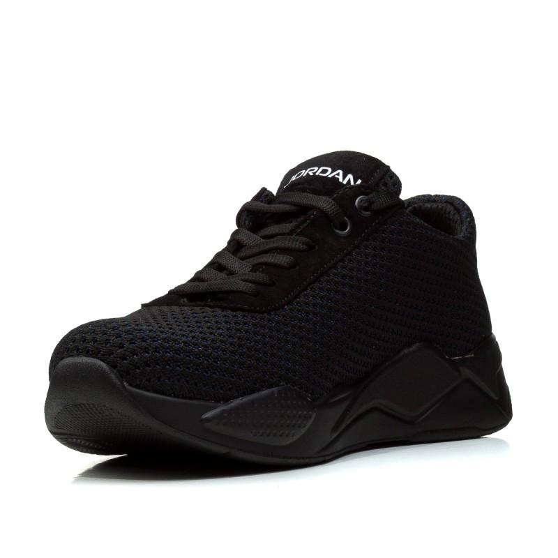 Кросівки чоловічі  текстильні зручні LIONS чорні в сіточку
