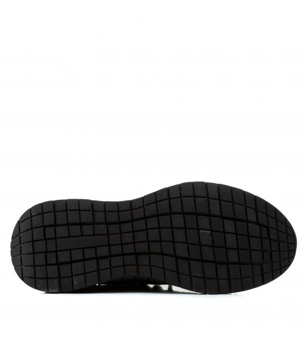Чоловічі кросівки чорні з червоними написами в сіточку Lifexpert