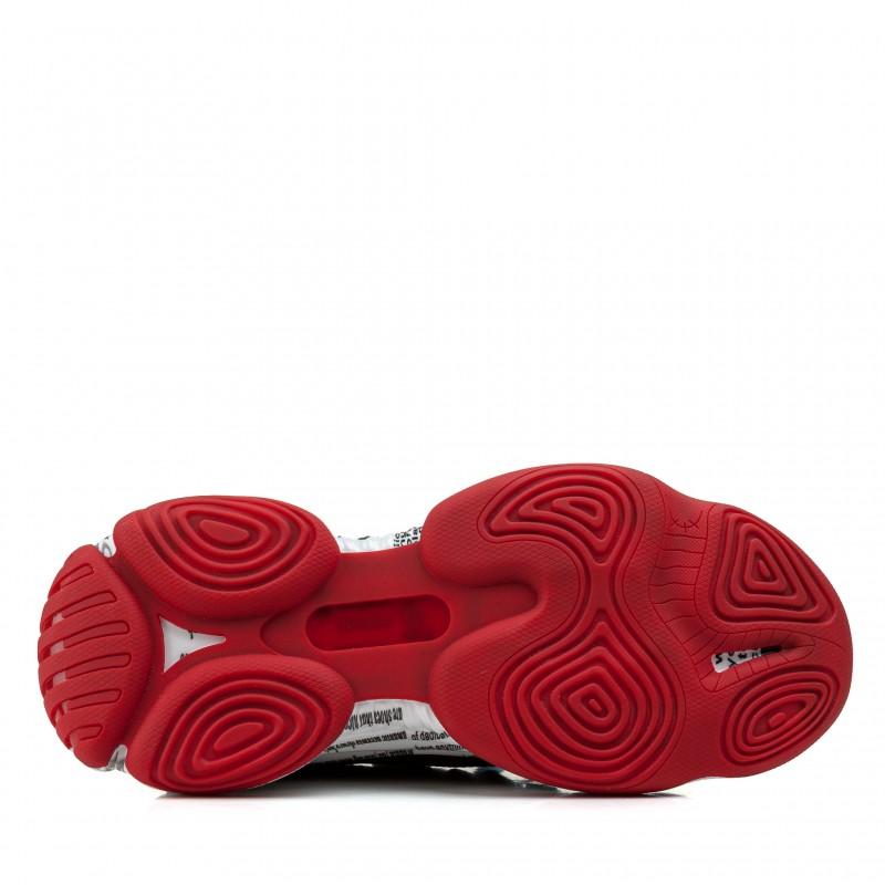 Кросівки чоловічі модні з товстою платформою Lifexpert чорні з червоним